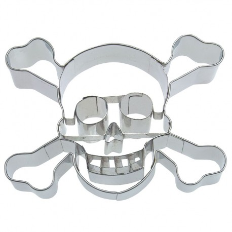 Cookies cutter skull with teeth 9 cm