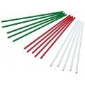 KitchenCraft - Bâtons à sucette plastique couleurs de Noël 15cm, 60 pièces