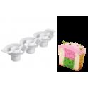 Wilton - Séparateur à cupcakes bicolors