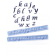 Alphabet tappits Lower Case SCRIPT