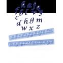 FMM Emporte-pièce Alphabet en italique minuscule, 1.5 cm