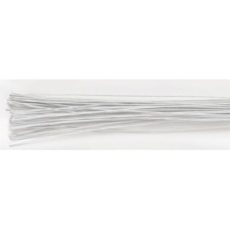 Culpitt - Tiges blanches pour  fleurs, calibre 18, 38 cm, 20 pièces