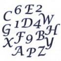 FMM Emporte-pièce Alphabet et numéros  en italique majuscule. 2 cm
