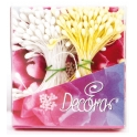 Decora - White pearl and mat yellow pistils, 288 pieces