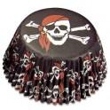 Caissettes à cupcakes pirate crâne, 50 pièces