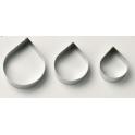 Culpitt - Emporte-pièce pétales de rose extra large en acier inoxydable, 3 pièces