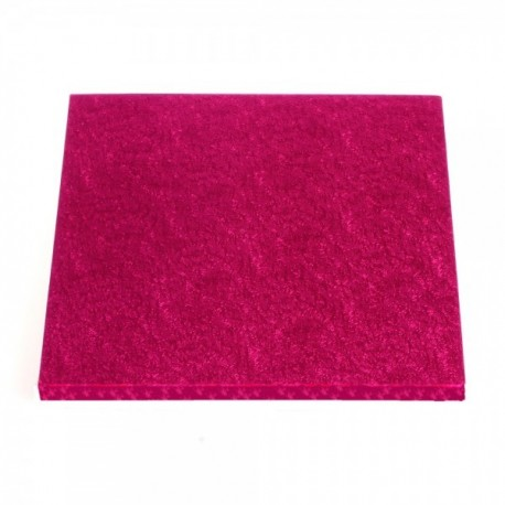 Square Cake Board fuchsia  cm 30 x 30, 12 mm thick