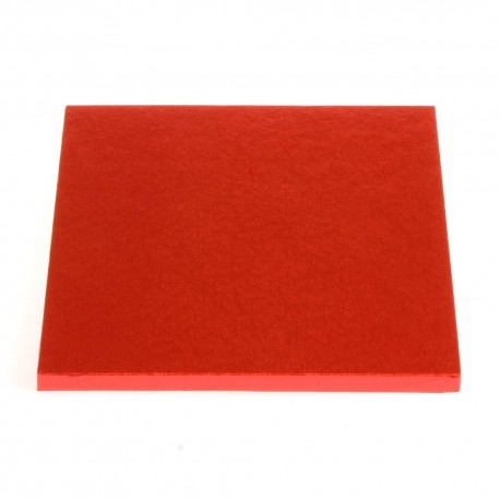 Square Cake Board red, cm 30 x 30, 12 mm thick