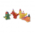 Dinosaurs candles, set of 4