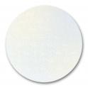 Planche blanc perle ronde, diamètre 15 cm, épaisseur 3 mm