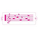 Decora - Pochoir partition musique, 10 x 30 cm