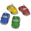 Cars candles, set of 4