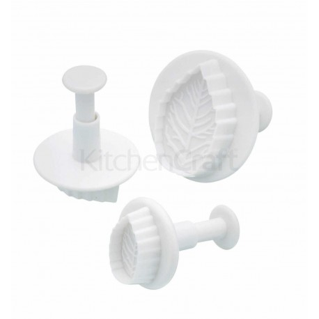 Sweetly Does It - Leaf Fondant Plunger Cutters, Set of 3