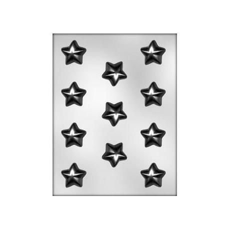 CK - Plastic mold for chocolat puffy stars, 11 cavities