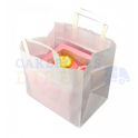 White paper carrier bag, for 6 cupcakes box