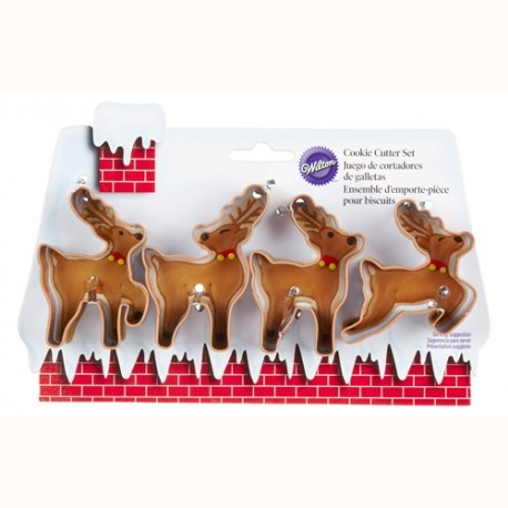Christmas Reindeer Cutter Set, 4 pieces