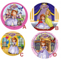 Wafer paper disc Princess Sofia,  21 cm