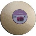 Planche dorée ronde, dia. 30 cm, épaisseur 1.2 cm