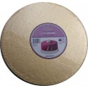 Cake Board Golden, diameter 30 cm, 12 mm thick