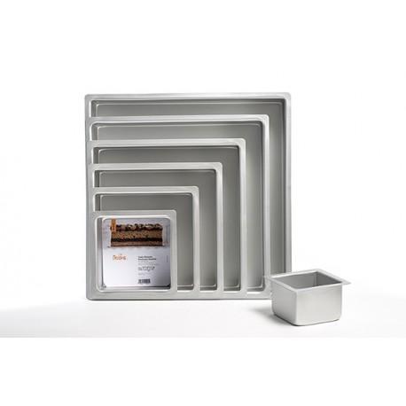 Decora - Square Cake Pan, aluminium, 15 x 15 x 10 cm