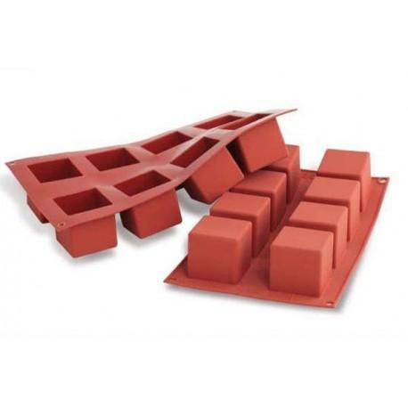 Silikomart - Cubes silicone mold, 8 holes