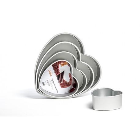 Heart Cake Pan, aluminium  cm 30 x 7.5 cm