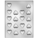 CK - Plastic mold for chocolat small hearts, 18 cavities