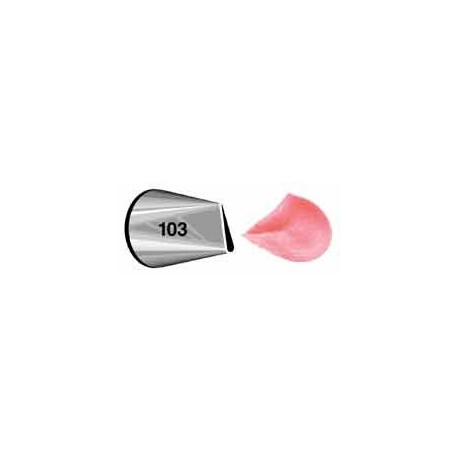 Douille en acier inoxydable 103 (pétale)