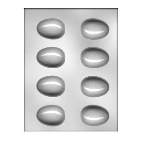 CK - Moule en plastique rigide pour chocolat oeufs (moyen), 8 cavités