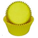 Caissettes mini cupcakes jaune, 50 pièces