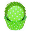 Green & Polka dots Baking Cupcake cups, 40