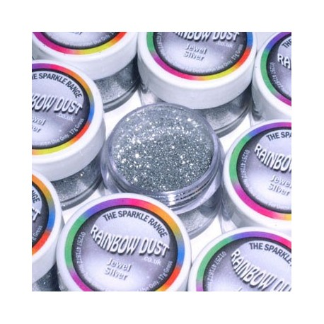 Rainbow Dust Sparkle Range - Jewel Silver, 5g