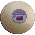 Cake Board Golden, diameter 40 cm, 12 mm thick