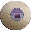 Cake Board Golden, diameter 40 cm, 12 mm thick