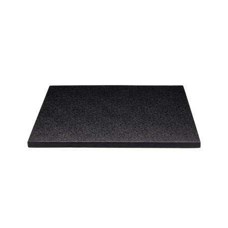 Square Cake Board black, cm 30 x 30, 12 mm thick