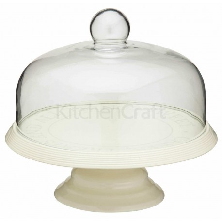 Cake Stand with glass dome, 26 cm dia
