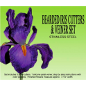 Petal Crafts - Iris flower cutters and veiner set, 4 pieces