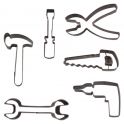 Staedter - Emporte-pièce thème outils, env. 7.5 cm, set de 6