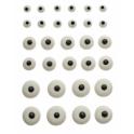 Decora Décoration en sucre yeux, mélange de tailles, 30 pièces