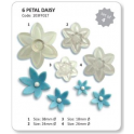 JEM Six Petal Daisy cutter set, 4 pieces