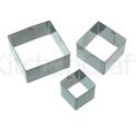 SDI - Emporte-pièces pour fondant carré, 3 pièces