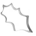Holly leaf cookie cutter, 12 cm