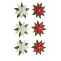 Sugar decoration poinsettia, 6 pieces