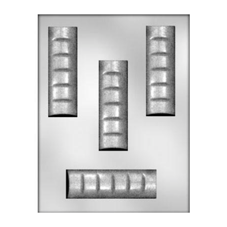 CK - Plastic mold for candy chocolate bar, 4 cavities