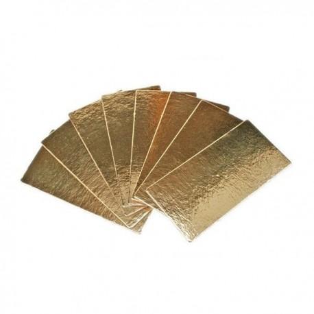 Planche à buche dorée rectangulaire, 35 x 10 cm, env 1 mm épaisseur