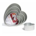 Decora - Heart Cake Pan, aluminium, 15 x 7.5 cm