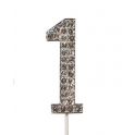 "Nummer 1 ""diamante"", 45 mm Hoch"