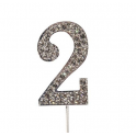 "Number 2 ""diamante"", 45 mm high"