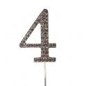 "Number 4 ""diamante"", 45 mm high"