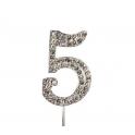 "Number 5 ""diamante"", 45 mm high"